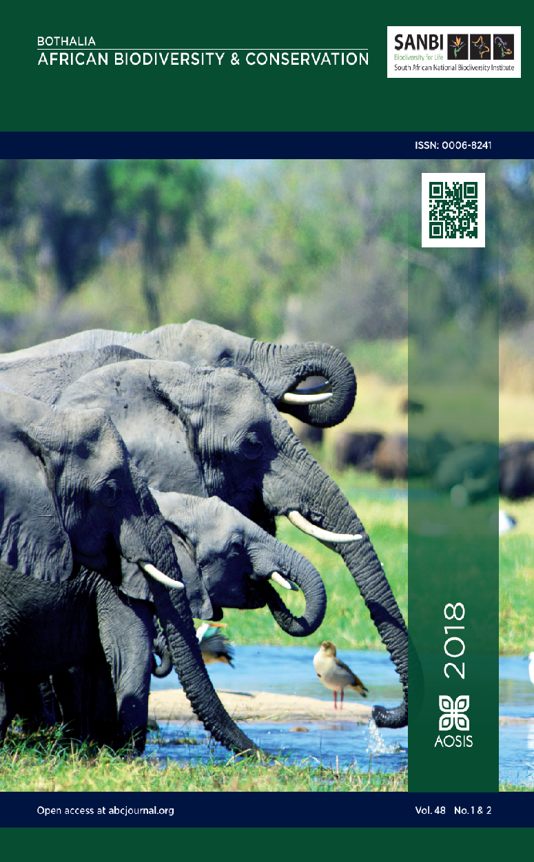 View Vol. 48 No. 2 (2018): Conservation and management of elephant populations on small and medium-sized fenced reserves: Current practices, constraints and recommendations